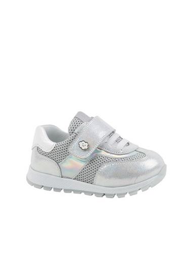 Kids A More Emma Tek Cırtlı Deri Ve Air File Detaylı Kız Bebek Sneaker  Gümüş